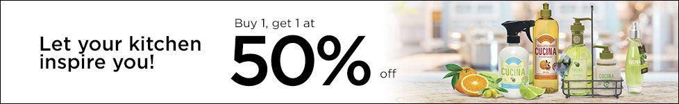 Buy 1 Get 1 50% off - Cucina Essentials