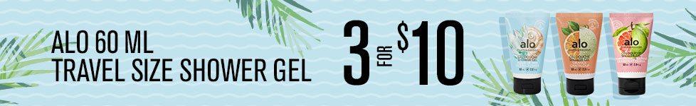 3 for $10 - Travel size Shower Gel