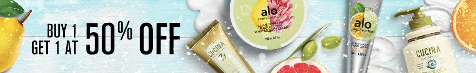 Buy 1 get 1 at 50% off - Moisturizing event